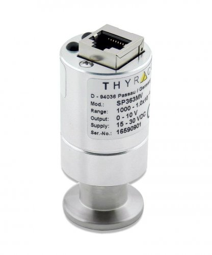 Pirani, 1000-1e-4 mbar, 0-10 V, logarithmic, metal sealed, DN16CF Compatible with Pirani sensors Leybold TTR91-/TTR96 series and Inficon PSG5xx series